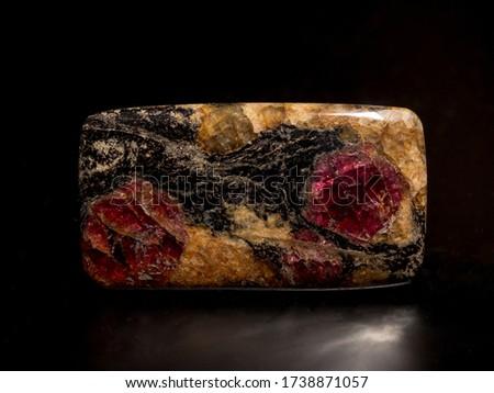 Garnet cabochon, almandine garnet, russian garnet, garnet specimen, rocks and minerals  #1738871057