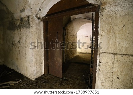 inside an old Bunker from the world war #1738997651