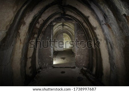 inside an old Bunker from the world war #1738997687