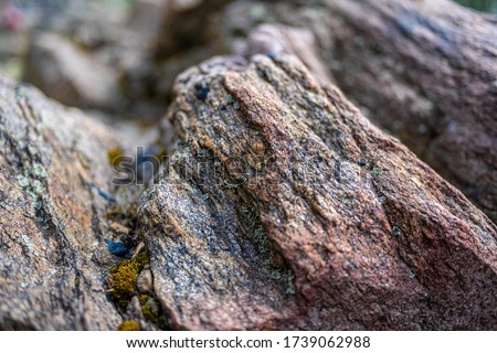 Granite stone . Rock. Granite background, samples of granite backgrounds, granite background with vignette. #1739062988