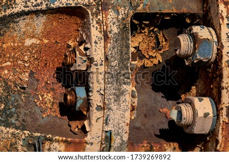 Old rusty device with screw thread #1739269892