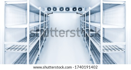 Refrigeration chamber for food storage Royalty-Free Stock Photo #1740191402