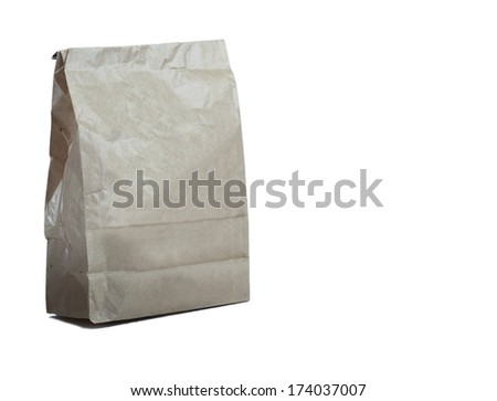 Paper bag isolated on white #174037007