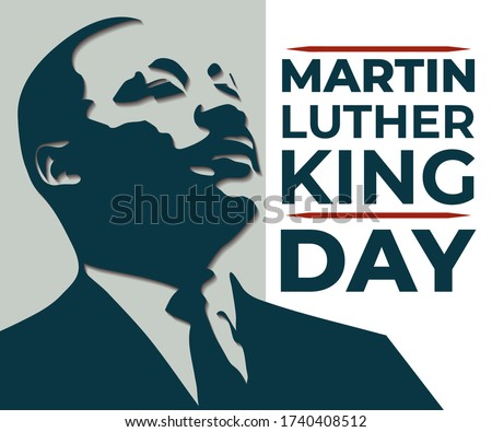 vector illustration for Martin Luther King Jr on abstract background #1740408512