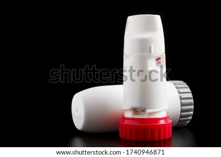 DPI Dry powder inhaler aerosol. Treatmemt for asthmatic. nebulizer turbuhaler. Commonly used to treat respiratory diseases such as asthma, bronchitis, emphysema and COPD. Also inhalhable insulin.