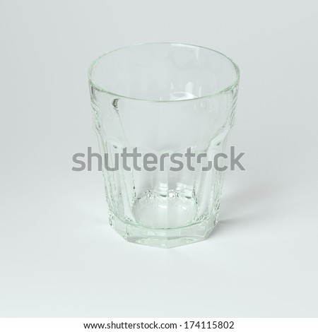Glass Collection - Water. On White Background #174115802
