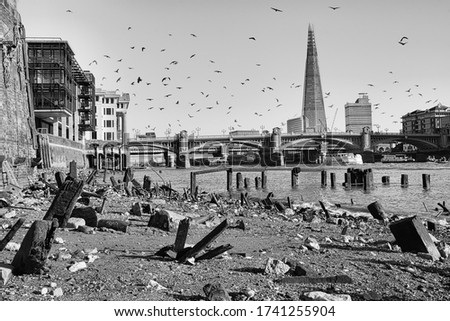 london apocalypse picture. England: Cruising the River Thames. uk london thames river .