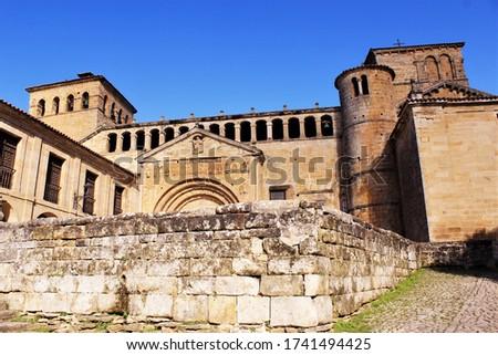 Colegiata de Santa Juliana de Santillana del Mar Cantabria,Spain. photo
