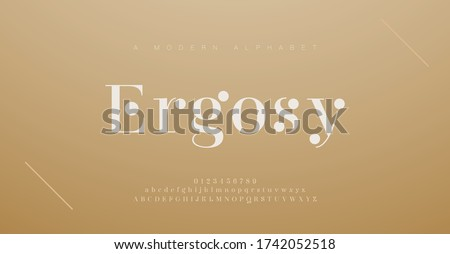 Elegant alphabet letters font and number. Classic Lettering Minimal Fashion Designs. Typography fonts regular uppercase and lowercase. vector illustration Royalty-Free Stock Photo #1742052518