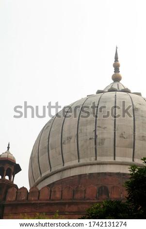 Islamic Jama Masjid Mosque, Masjid-I Jahan-Numa, Old Delhi, With Domes And Minarets, Largest Mosque In India, New Delhi, India Copyright © Saji Maramon #1742131274