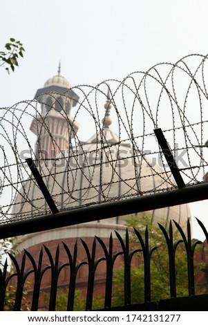 Islamic Jama Masjid Mosque, Masjid-I Jahan-Numa, Old Delhi, With Domes And Minarets, Largest Mosque In India, New Delhi, India Copyright © Saji Maramon #1742131277