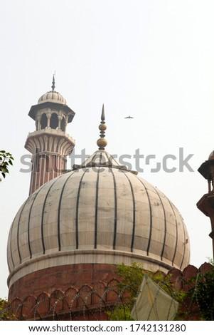 Islamic Jama Masjid Mosque, Masjid-I Jahan-Numa, Old Delhi, With Domes And Minarets, Largest Mosque In India, New Delhi, India Copyright © Saji Maramon #1742131280