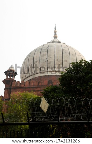 Islamic Jama Masjid Mosque, Masjid-I Jahan-Numa, Old Delhi, With Domes And Minarets, Largest Mosque In India, New Delhi, India Copyright © Saji Maramon #1742131286