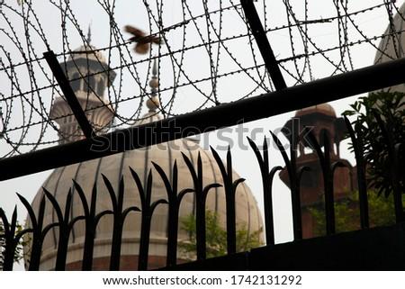Islamic Jama Masjid Mosque, Masjid-I Jahan-Numa, Old Delhi, With Domes And Minarets, Largest Mosque In India, New Delhi, India Copyright © Saji Maramon #1742131292