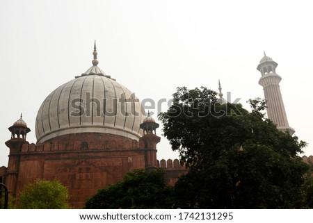 Islamic Jama Masjid Mosque, Masjid-I Jahan-Numa, Old Delhi, With Domes And Minarets, Largest Mosque In India, New Delhi, India Copyright © Saji Maramon #1742131295