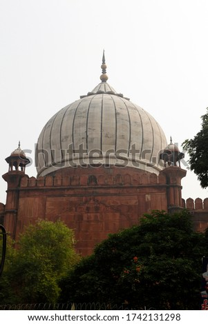 Islamic Jama Masjid Mosque, Masjid-I Jahan-Numa, Old Delhi, With Domes And Minarets, Largest Mosque In India, New Delhi, India Copyright © Saji Maramon #1742131298