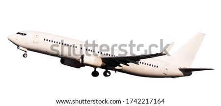 Commercial passenger aircraft isolated on white background #1742217164