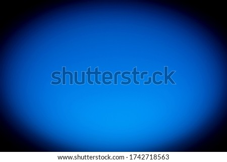 Blue background with vignetting, photography with the illusion of movement