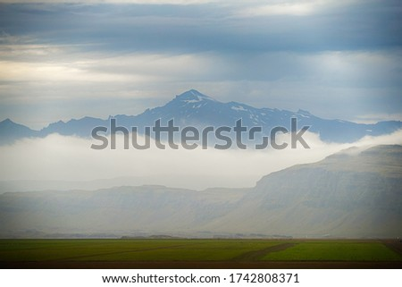 picture of farm agricultural at north in Iceland at summertime