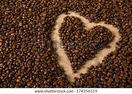 coffee heart #174356519