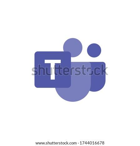 Microsoft Teams logo, remote working application symbol. Microsoft Teams vector sign, modern and simple logo illustration. Royalty-Free Stock Photo #1744016678