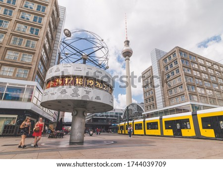 Summer at Alexanderplatz, Berlin, Germany Royalty-Free Stock Photo #1744039709