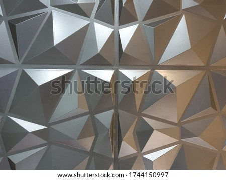 rectangular-shaped polygon wall with brow silver color