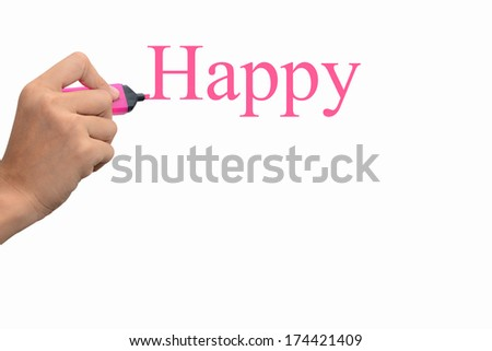 Business hand writing Happy concept  #174421409