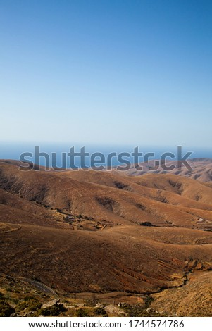 High angle view of Fuerteventura Canary Islands Spain