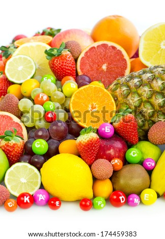 Fresh organic fruits #174459383