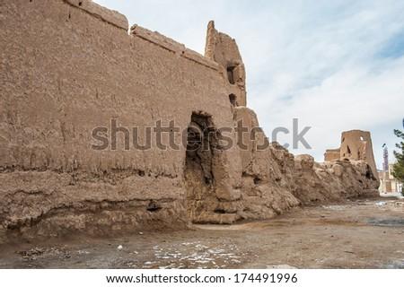 Iranian typical clay fortress. Kashan, Iran #174491996