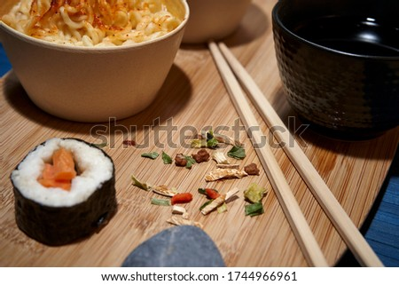 pictures of dinner day sushi alone at home