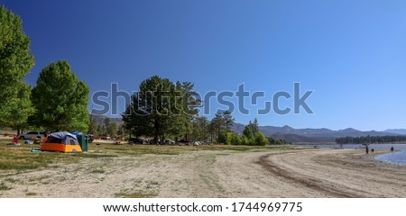 View of Lake Hemet camping area.