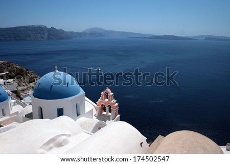Santorini Church #174502547