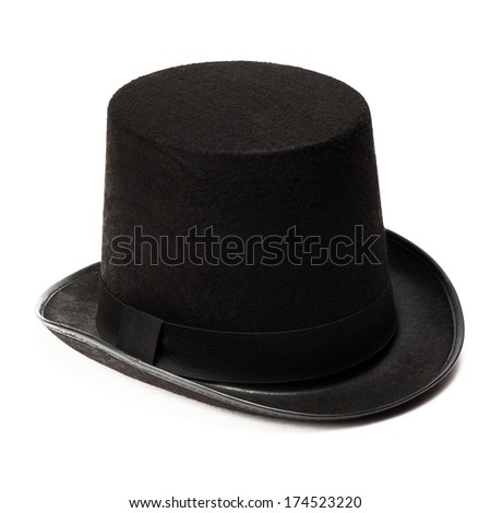 Black top hat isolated on white background #174523220