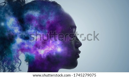 AI (Artificial Intelligence) concept. Deep learning. Mindfulness. Psychology. Royalty-Free Stock Photo #1745279075