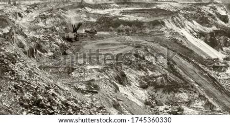 Graphite quarry. Open pit mining of graphite #1745360330