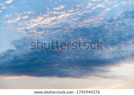 Picture of sky with clouds and sun life, Twilight background
