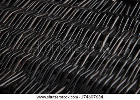 Texture of black wicker basket close up. #174607634