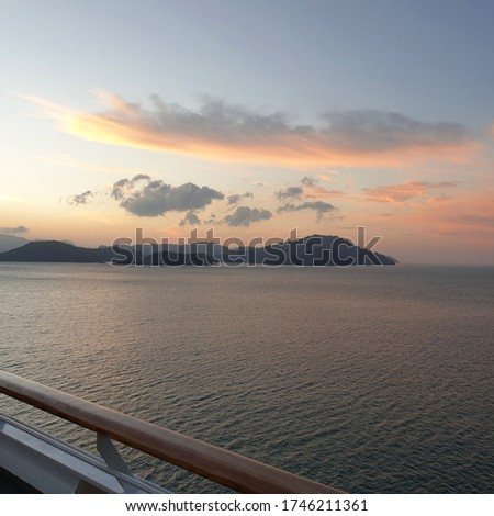morning lights from the cruiseship deck
