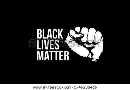 Black lives matter fist design vector Royalty-Free Stock Photo #1746238466