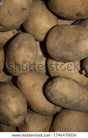 A picture of potato with Selective focus