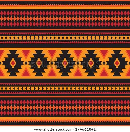 Seamless geometric pattern in ethnic style