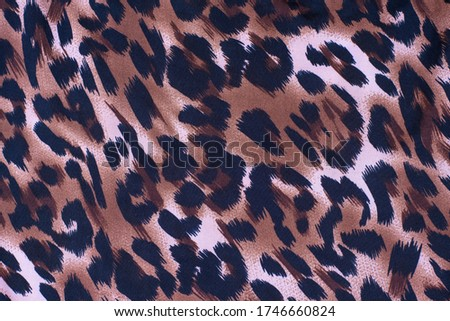 A picture of the wool of the leopard on the fabric. Close up leopard, cheetah spot pattern texture background