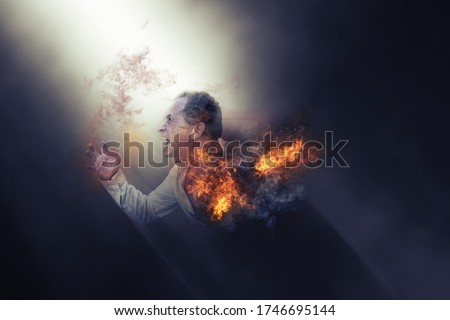 man expressing anger, anger, frustration, stress, scream, courage, hatred, helplessness Royalty-Free Stock Photo #1746695144