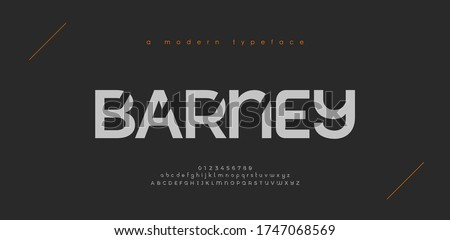 Abstract sport modern alphabet fonts. Typography technology electronic sport digital game music future creative font. vector illustration #1747068569