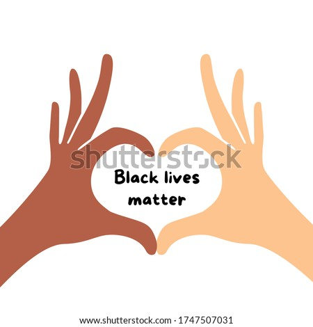 Black lives matter, Human Rights of Black People in U.S. America. Vector Illustration Royalty-Free Stock Photo #1747507031