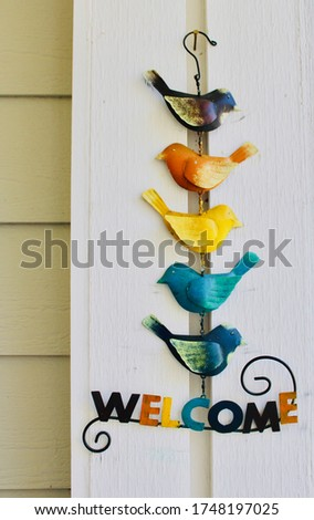 Bright sign with birds