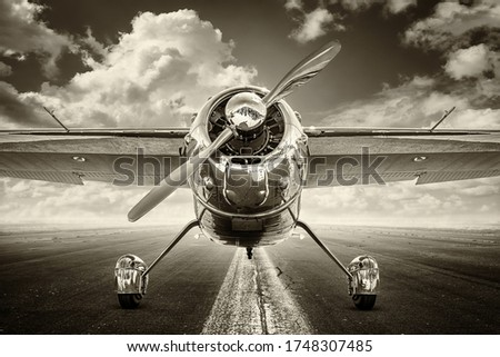 vintage picture of an historical airplane