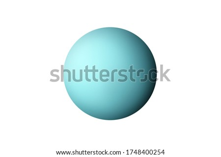 Planet Uranus in the Starry Sky of Solar System in Space. This image elements furnished by NASA.
